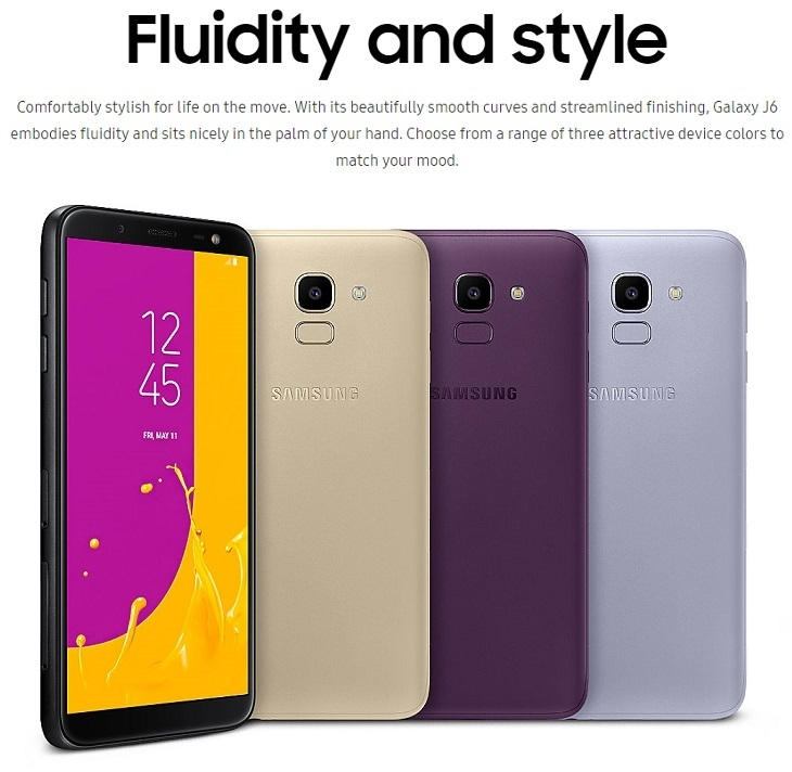 Samsung galaxy j6 infinity display