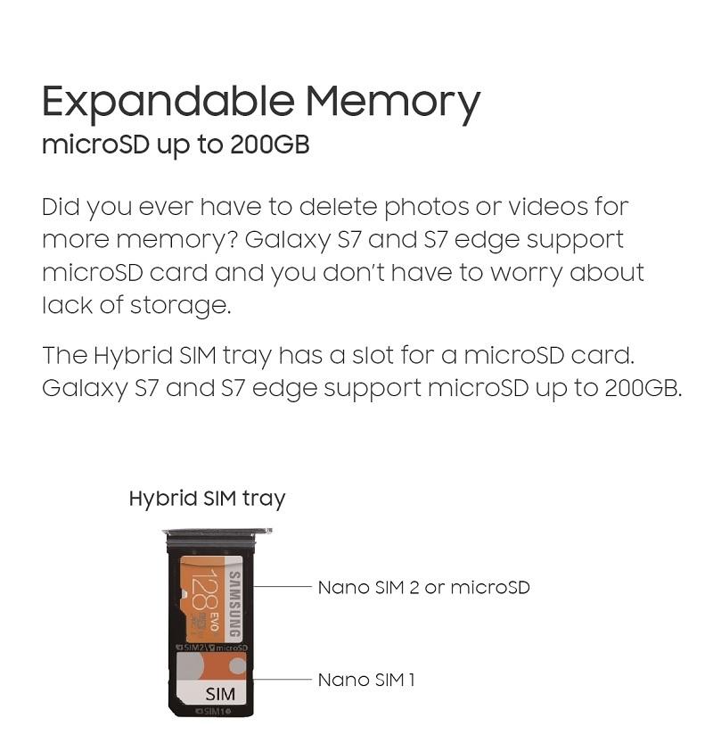 Galaxy S7 Memory