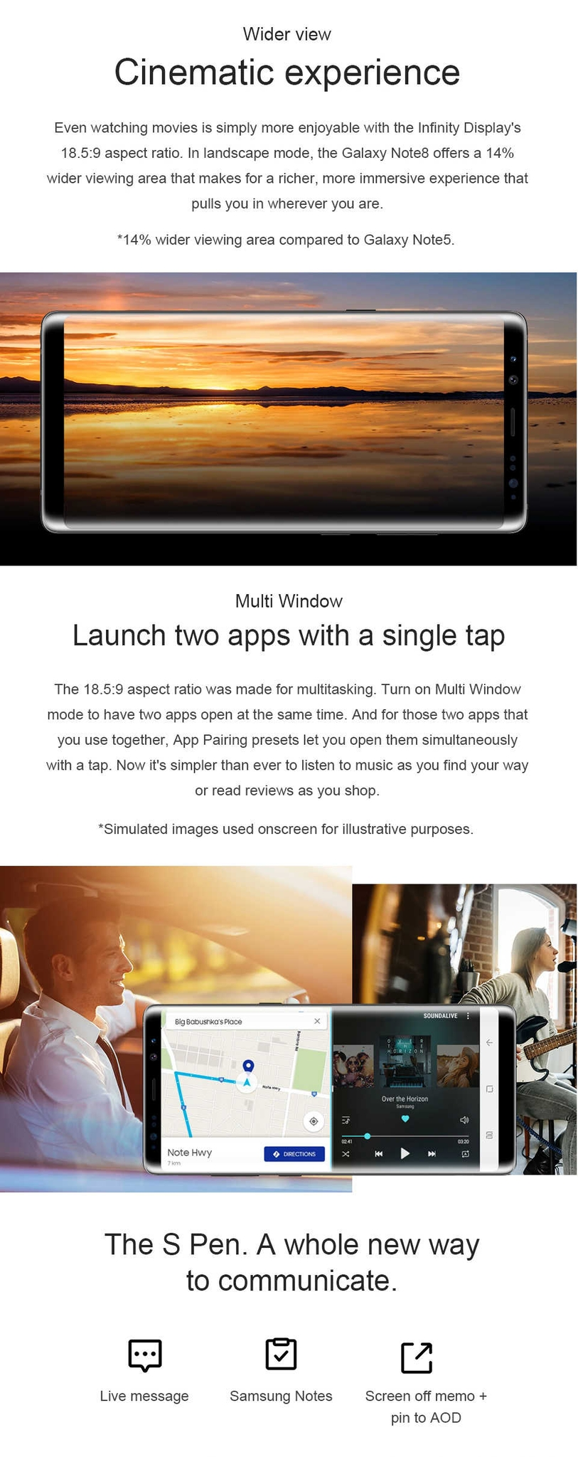"Samsung Galaxy Note8 Note 8 N950U 4G  Android Phone Octa Core 6.3"" 12MP  RAM 6GB ROM 64GB 3300mAh black 2"