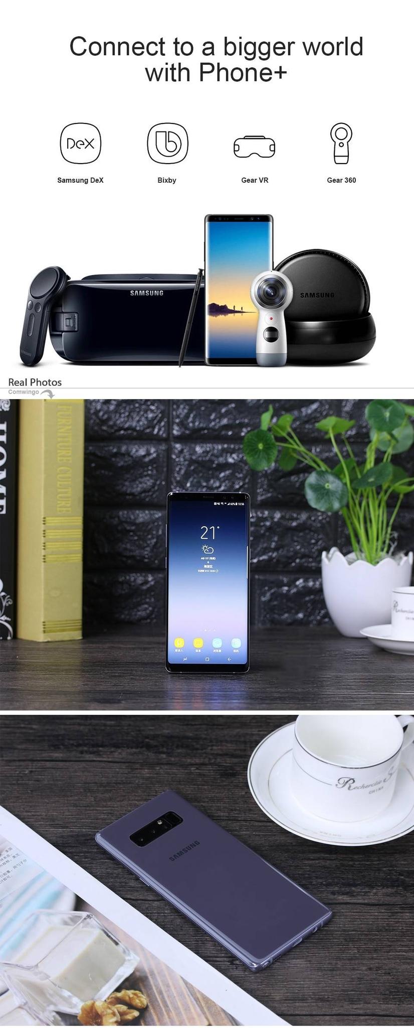 "Samsung Galaxy Note8 Note 8 N950U 4G  Android Phone Octa Core 6.3"" 12MP  RAM 6GB ROM 64GB 3300mAh black 4"
