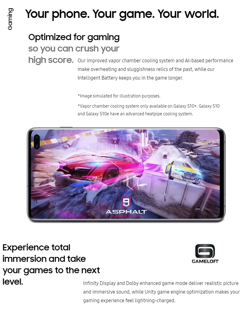 Samsung Galaxy S10 Plus (S10+) 6 4-Inch (8GB, 128GB ROM