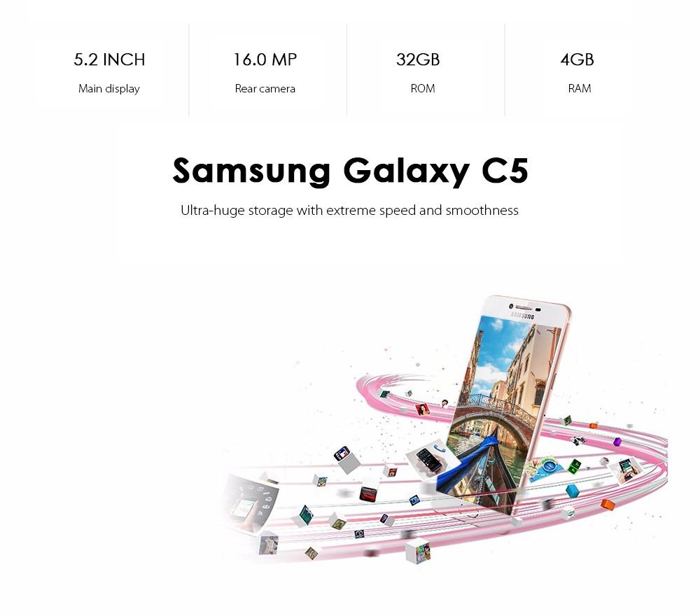 Samsung Galaxy C5 / C5000 4G Smartphone Octa Core 4GB RAM 32GB ROM