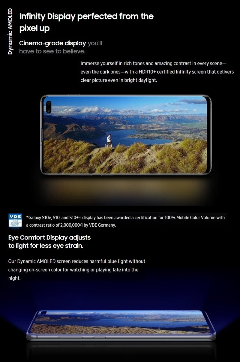 infinity display galaxy s10