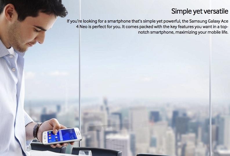 Samsung Galaxy Ace Neo 4 Smartphone