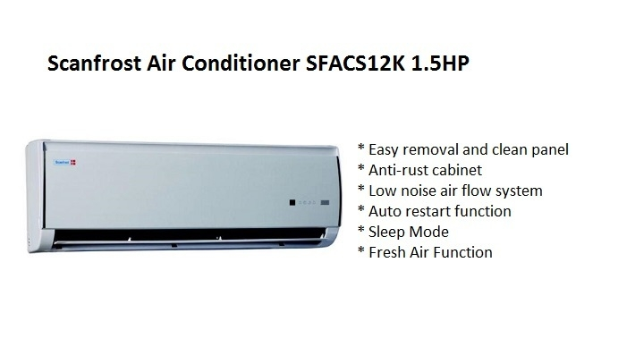 Scanfrost Air Conditioner SFACS12K 1.5HP