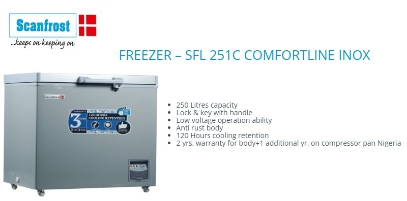 best affordable Scanfrost Chest Freezer SFL251C in nigeria