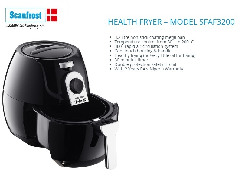 best affordable air fryer in nigeria scanfrost sfaf3200