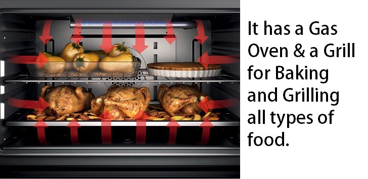 buy scanfrost gas cooker with oven and grill