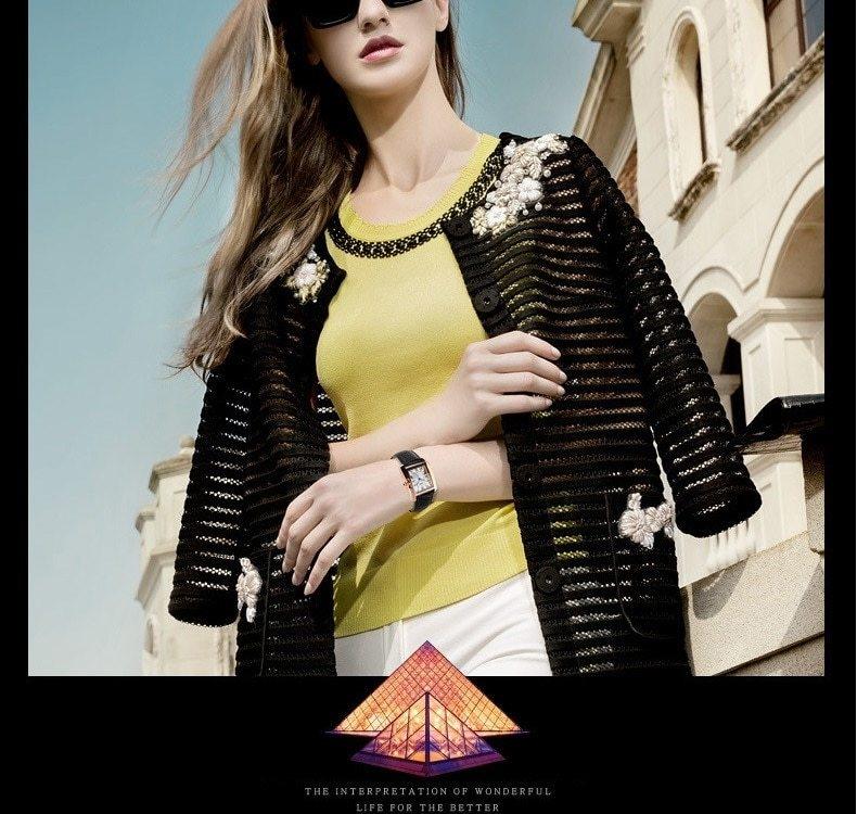 SKMEI Women Quartz Watches Luxury Fashion Casual Watch Leather Strap Lady Dress Girls red 22cm 7