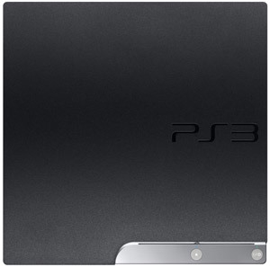 The PlayStation 3 120GB system's textured finish