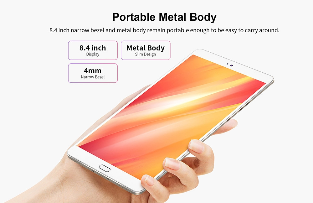 Teclast M8 8.4 inch Tablet PC Android 7.1 Allwinner A63 1.8GHz Quad Core CPU 3GB RAM 32GB ROM 2.0MP Camera