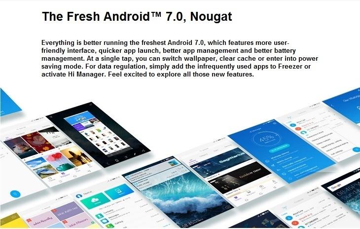 Tecno CX Air Android 7.0 nougat