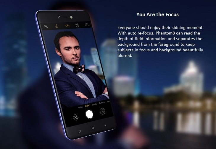 Phantom 8 20mp selfie camera autofocus