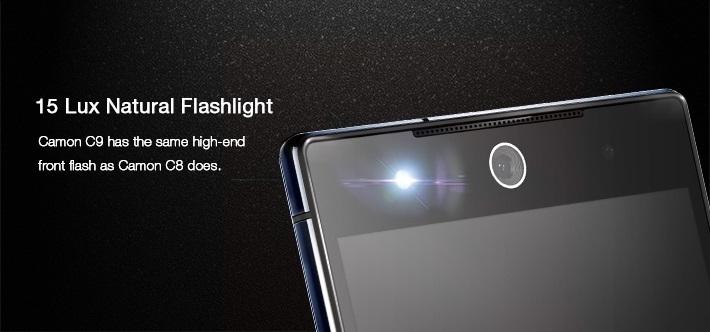 C9 front camera natural flashlight