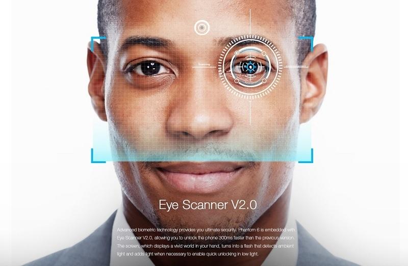 Tecno Phantom 6 with eye scanner