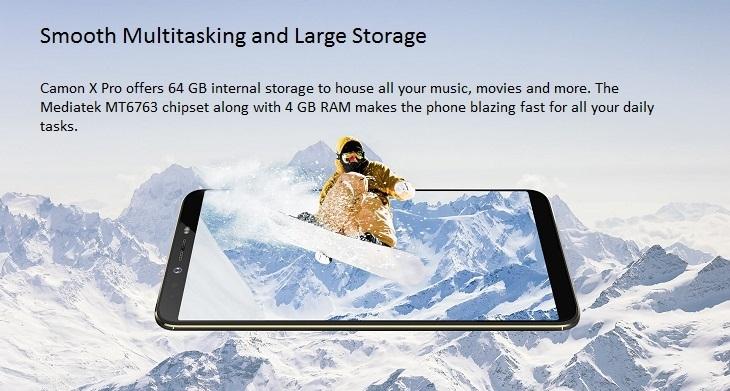 tecno camon x pro 64GB + 4GB