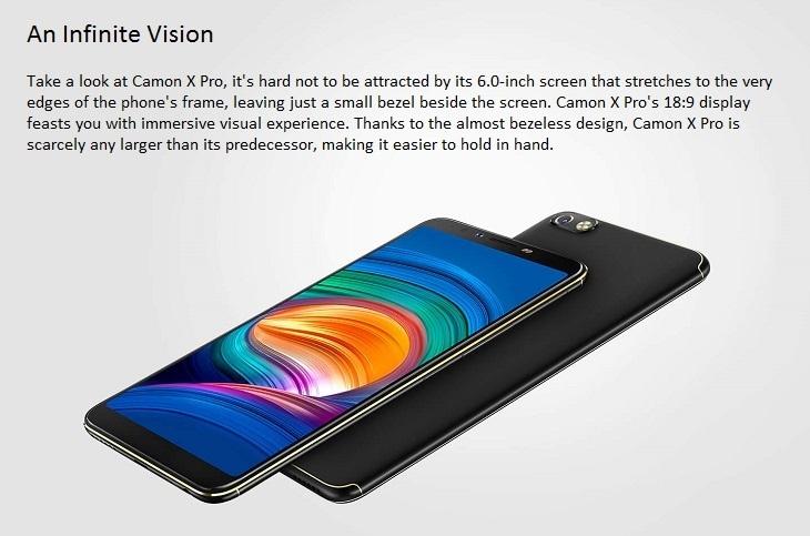 tecno camon x pro 6 inch android smartphone