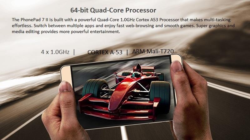 Tecno PhonePad 7 II Quad-Core Processor Tablet