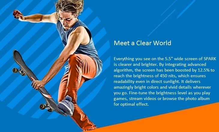 Tecno Spark K7 5.5-inch Screen
