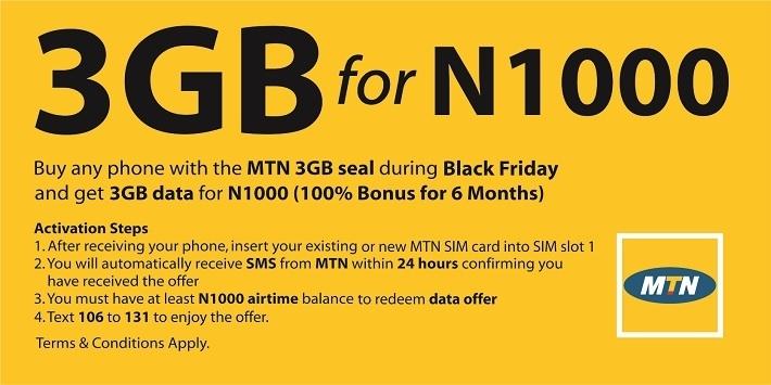 Get 3GB Data for 1000 naira on Jumia