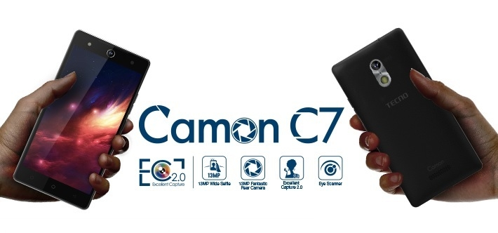 Tecno Camon C7 Dual Sim (3G, 16GB, Blue) Official Warranty