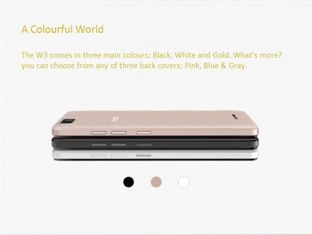 Tecno W3 back case colours