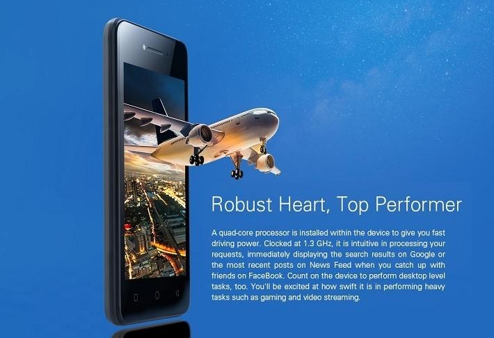 Tecno W1 4.0 Inch WVGA (1GB, 8GB ROM) Android 7.0 Nougat, 2MP Smartphone   Black