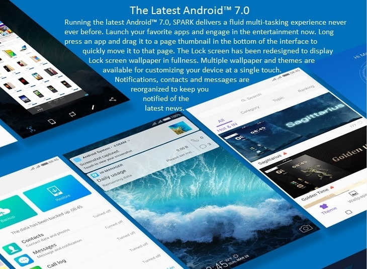 Tecno Spark K7 Android 7 Nougat