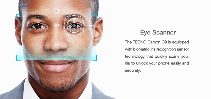 Camon C9 Eye Iris Scanner