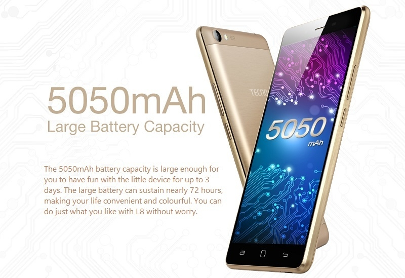TECNO L8 5050mAh Battery Capacity
