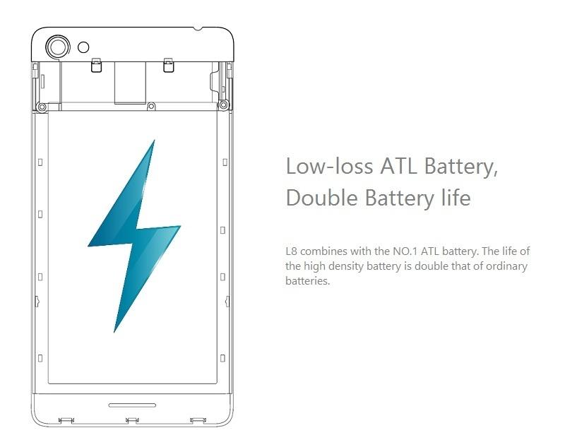 L8 amazing ATL battery life