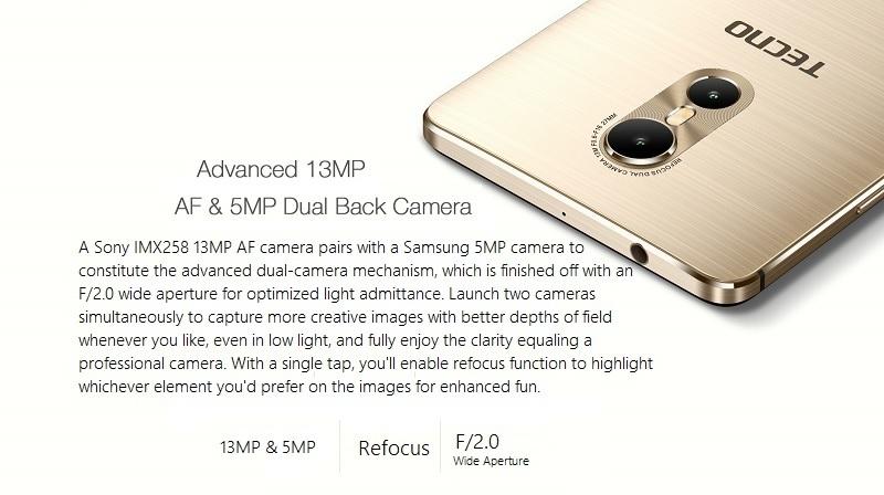 Tecno Phantom 6 Dual Camera