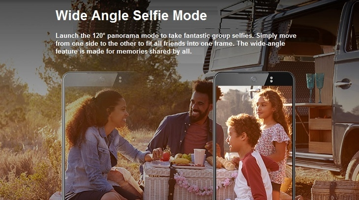 Tecno CX Air wide angle selfie