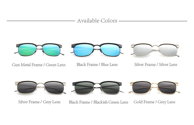 TOMYE 9916 Metal Round Frame Polarized Sunglasses for Men and Women