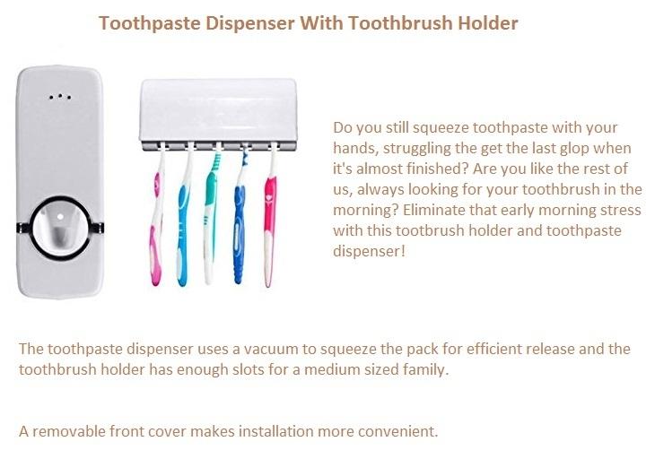 Toothbrush holder/Toothpaste dispenser on Jumia best price