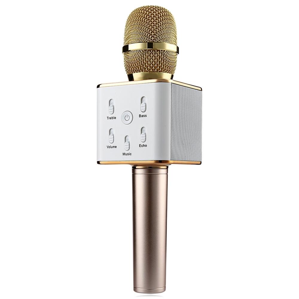 TUXUN Wireless Bluetooth Speaker & Microphone - Gold