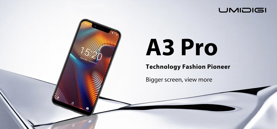 UMIDIGI A3 Pro Global Bands 5.7 Inch HD+ 3300mAh Android 8.1 3GB 16GB MT6739 Quad Core 4G Smartphone