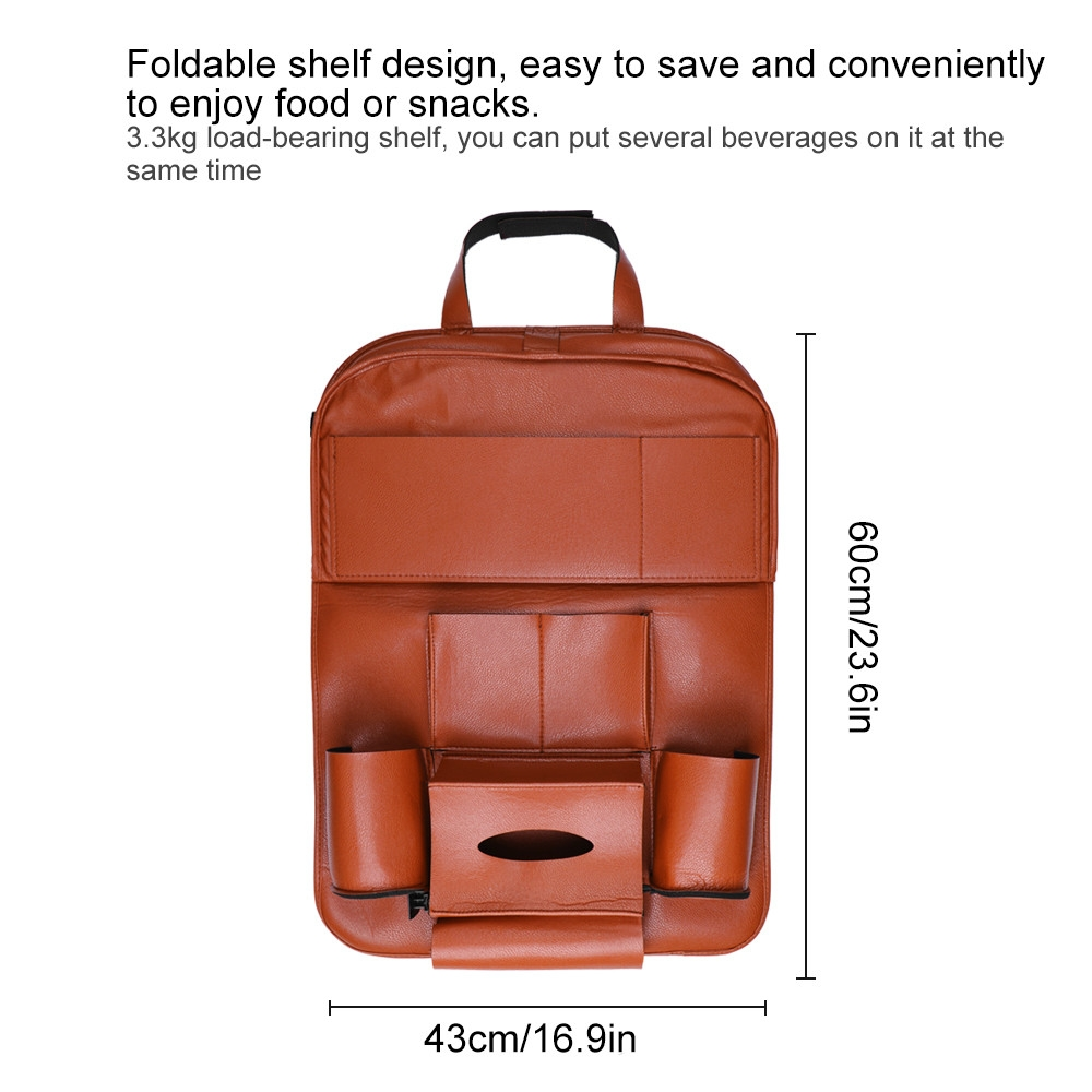 3a978287c552b2ae8f90d41b813e4a54 UNIVERSE Car Seat Cover Organizer With Dishing Tray/ Latest Multifuction, Made Of Leather price on jumia