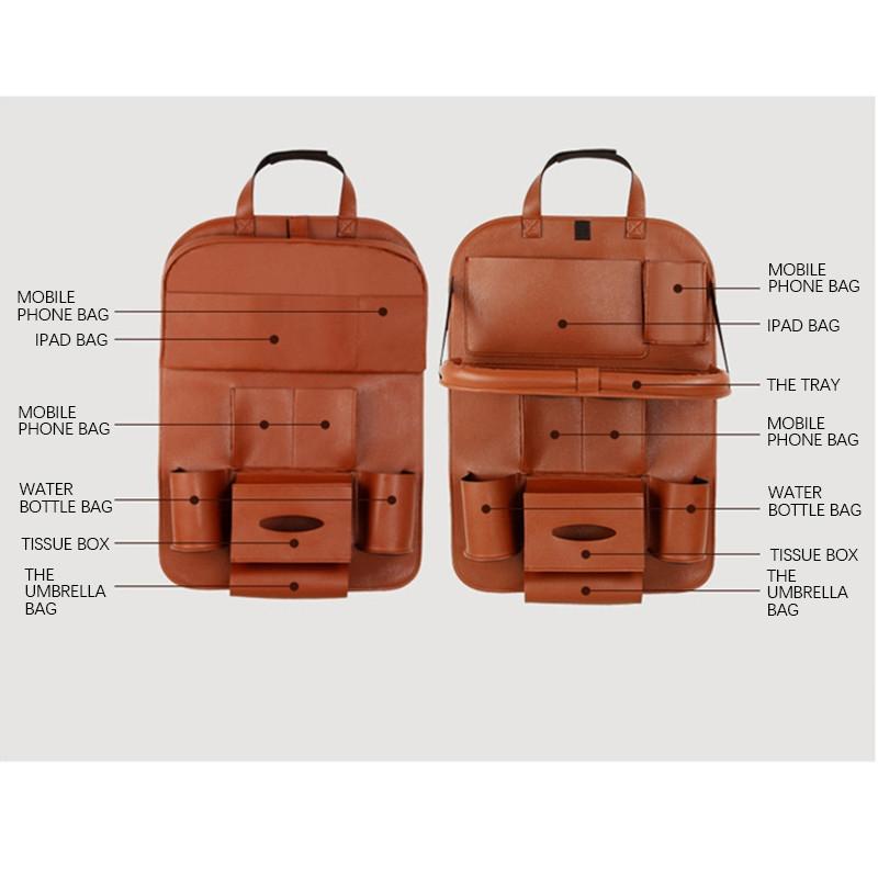 bdf39ffd5a4de689a7eb412326ffa0f2 UNIVERSE Car Seat Cover Organizer With Dishing Tray/ Latest Multifuction, Made Of Leather price on jumia