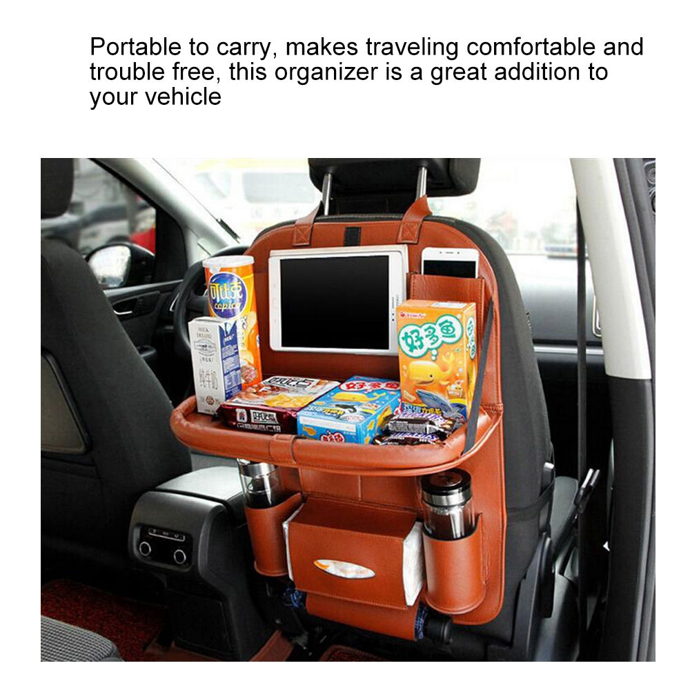 ca5959b67acac9718b9f15c2eb11e59e UNIVERSE Car Seat Cover Organizer With Dishing Tray/ Latest Multifuction, Made Of Leather price on jumia