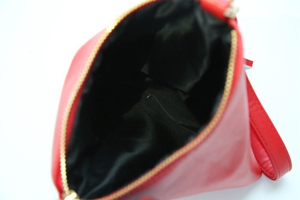 Triangle Shape Day Clutch Women Evening Bag PU Leather Wristlet Purses Tassel Small Handbags Herald Fashion New Arrivals (5)