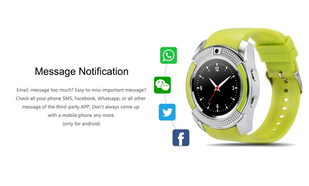 Buy V8 Smart Watch Clock With Sim TF Card Slot Bluetooth