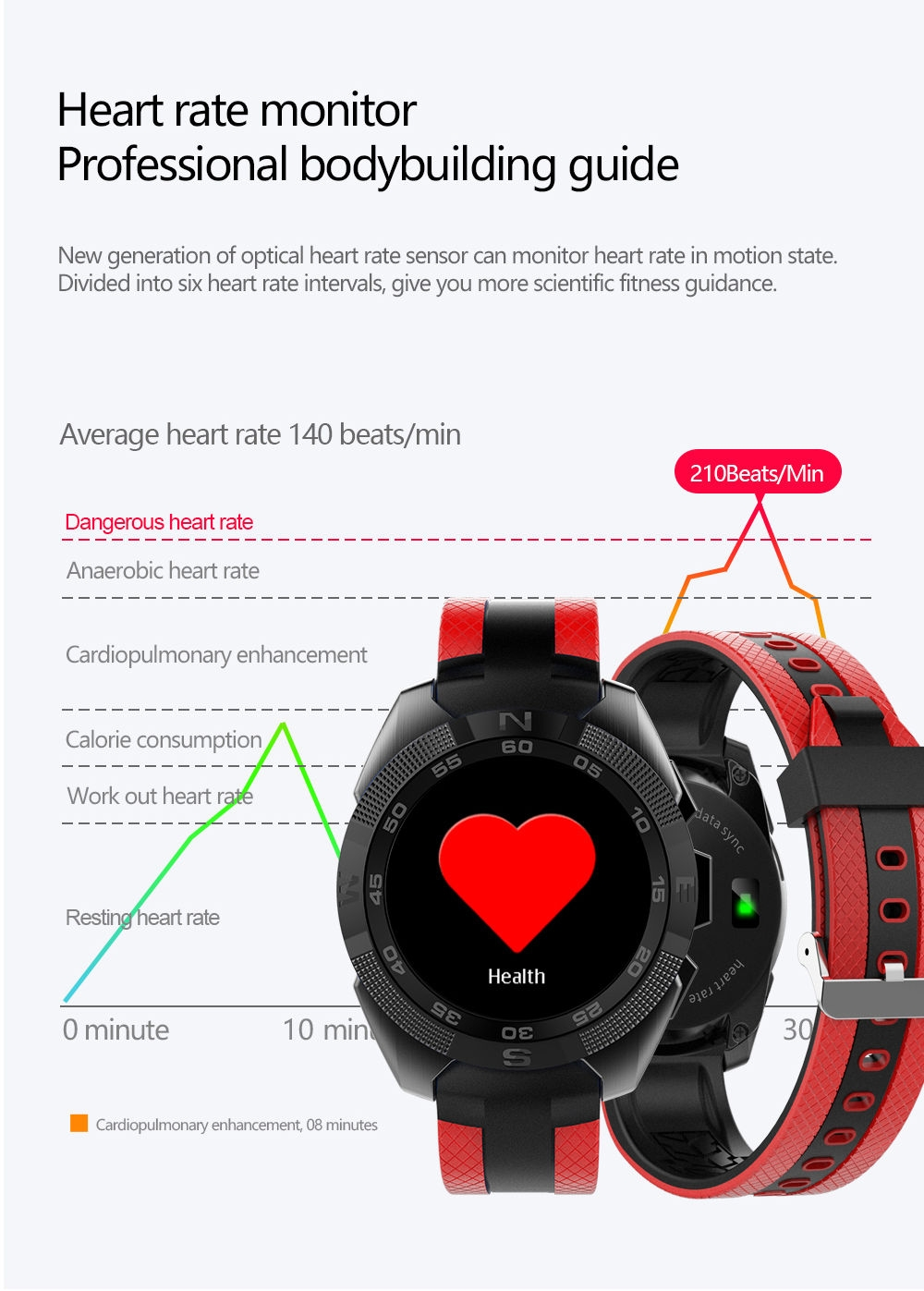 Generic Microwear L3 Smart Watch Android Heart Rate(Gray