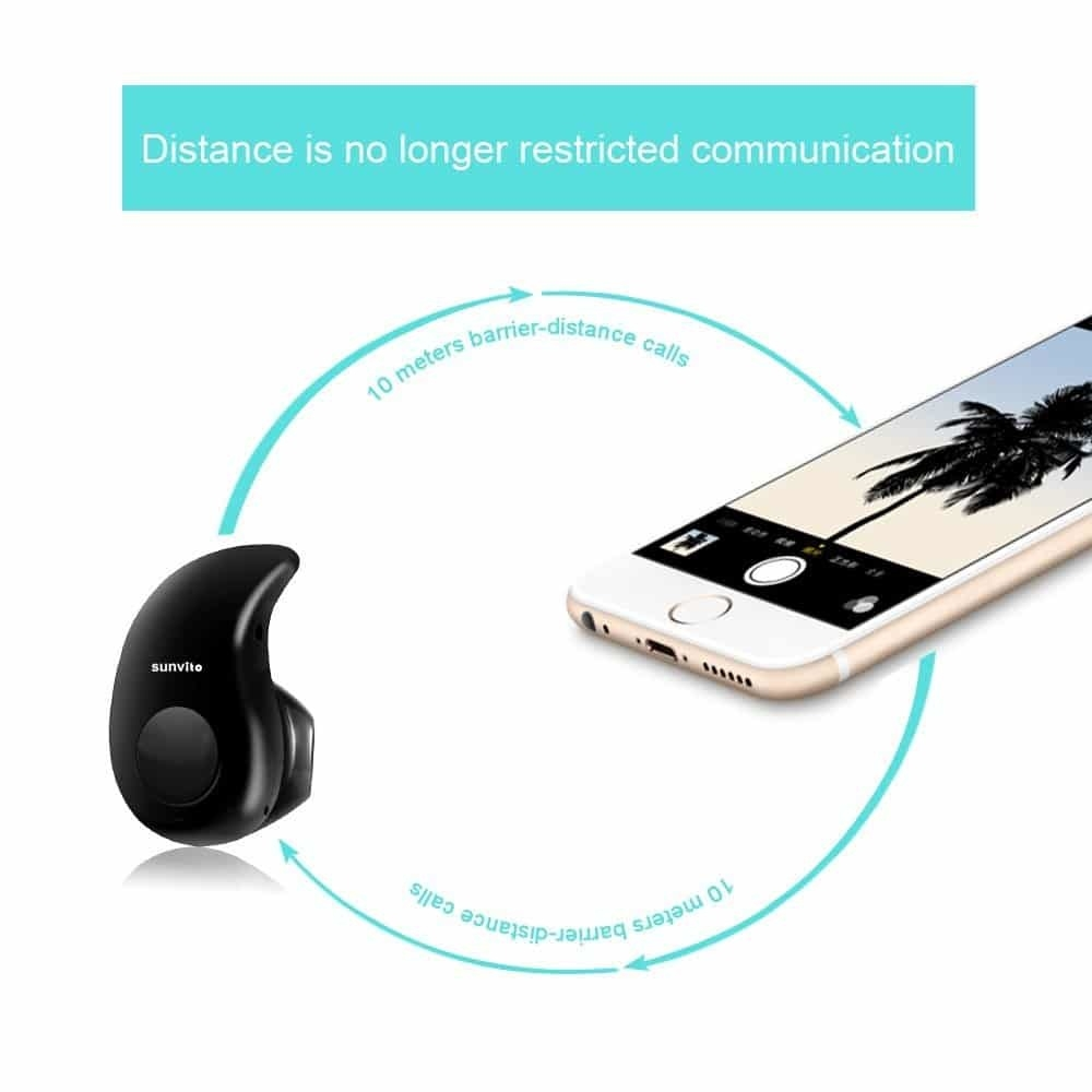 Universal Bluetooth 4.0 Wireless Headphone Headset Invisible Earpiece Ultra small S530 Earphone   Black price in nigeria