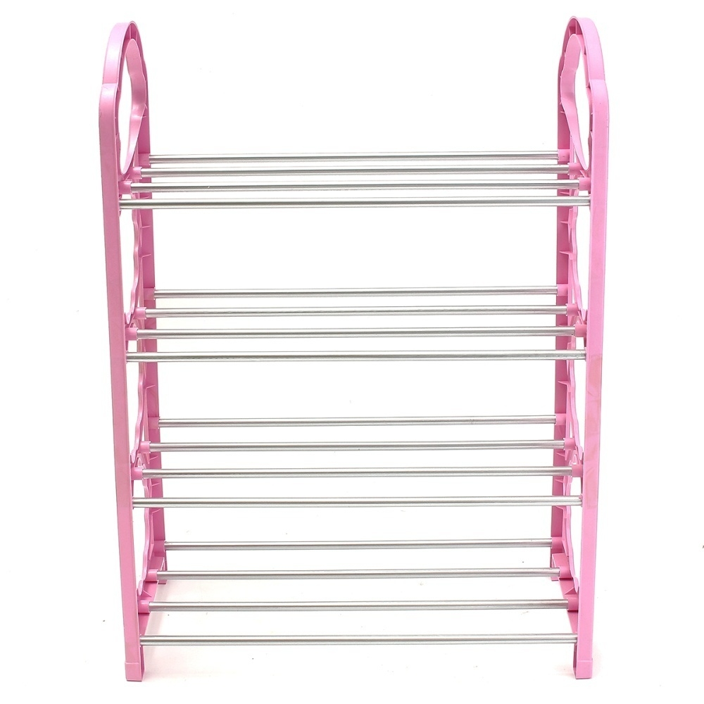 Universal new 12 pair shoe rack 4 tier shoe storage for Organiser un stand