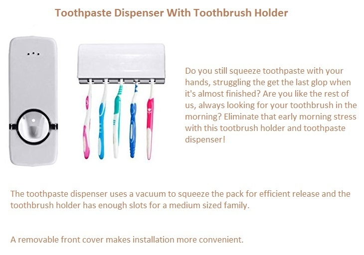 Toothbrush holder/Toothpaste dispenser on Jumia best price