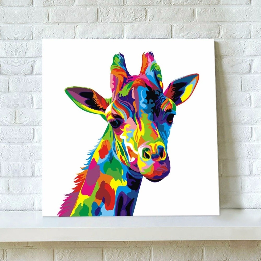 Generic Colourful Giraffe Decorative Painting Canvas