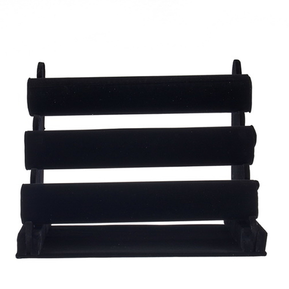 Universal black 3 tier velvet watch bracelet jewellery for Organiser un stand