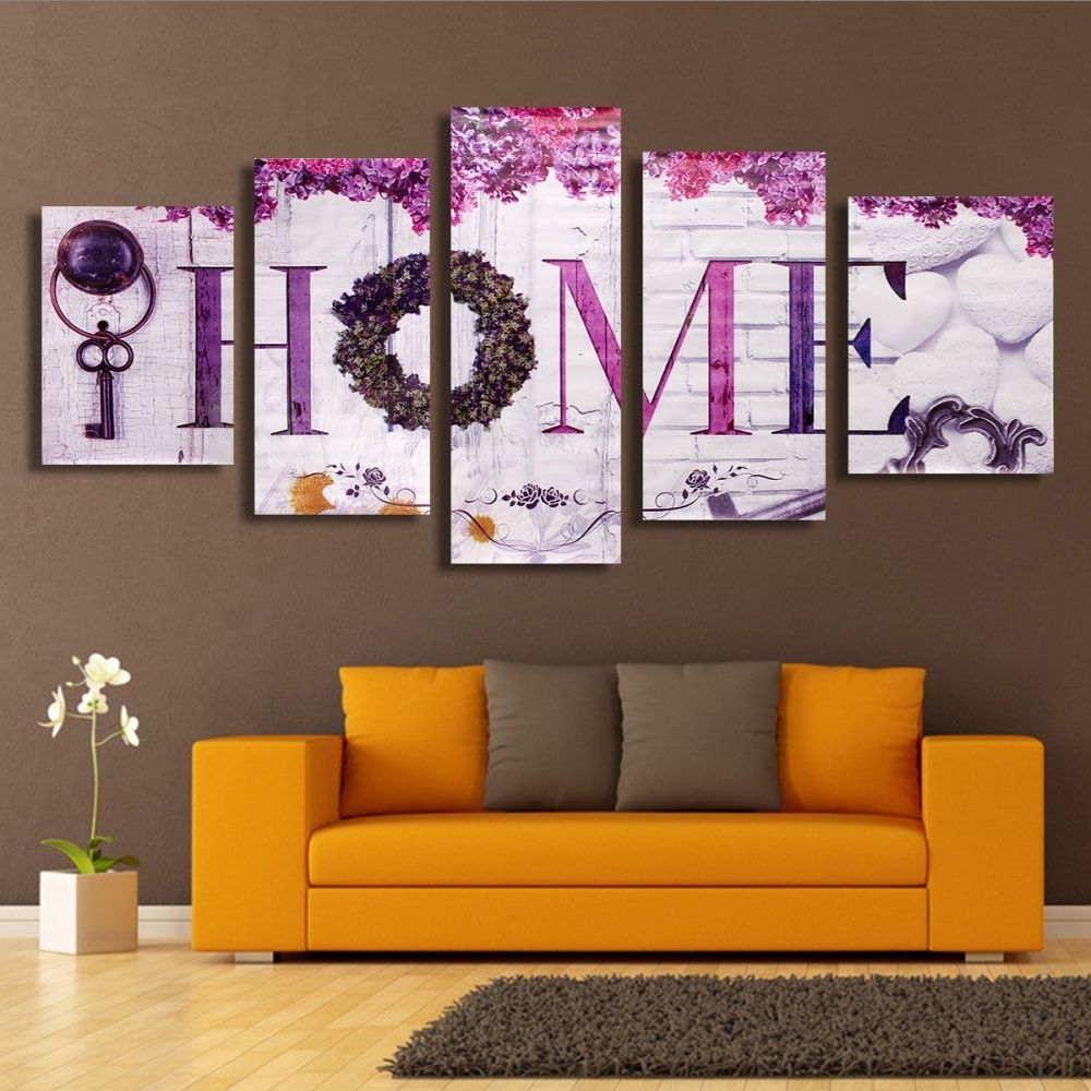Generic 5x HOME Colorful Classical Decorative Canvas