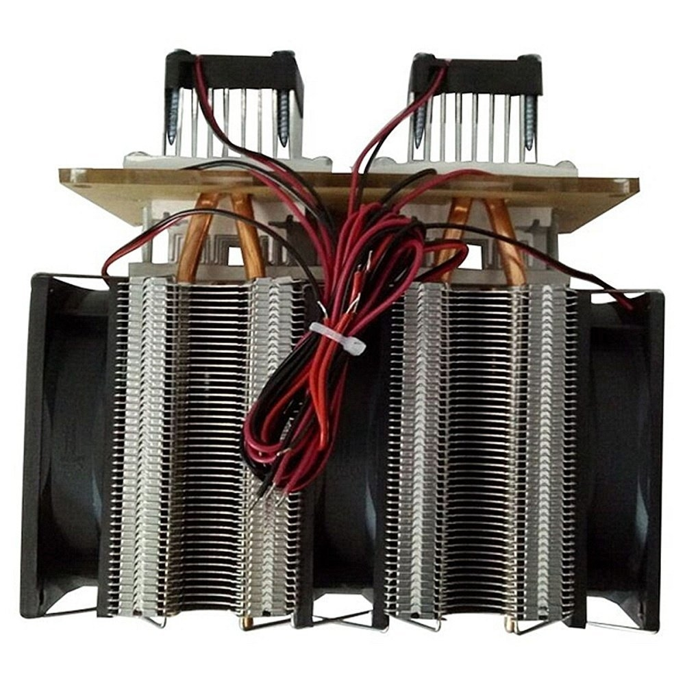 Universal 12V DIY 12A 144W Electronic Semiconductor Refrigerator Radiator Double Head Kit Black price in nigeria